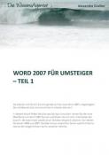 Word 2007 für Umsteiger - Teil 1