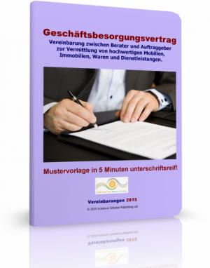 Geschäftsbesorgungsvertrag (Beratervertrag)
