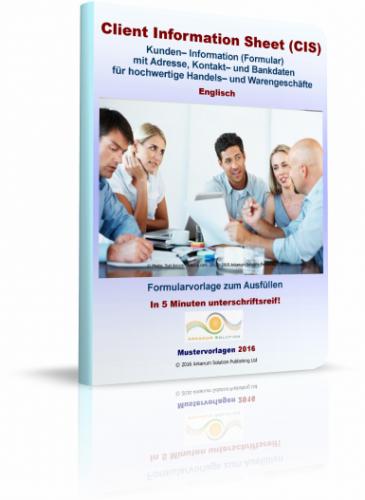 Client Information Sheet (CIS)
