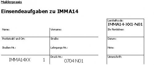 Einsendeaufgaben zu IMMA14