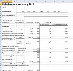 Reisekostenabrechnung 2014 effektiv und Finanzamtssicher