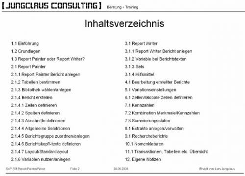 SAP R/3 Report Writer/Report Painter Handbuch über 300 Seiten