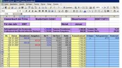Kassenbuch und Kassenabrechnung - MS Excel mit/ohne MwSt
