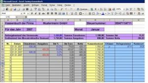 Profi-Kassenbuch + Kassenabrechnung - Excel, mit/ohne MwSt