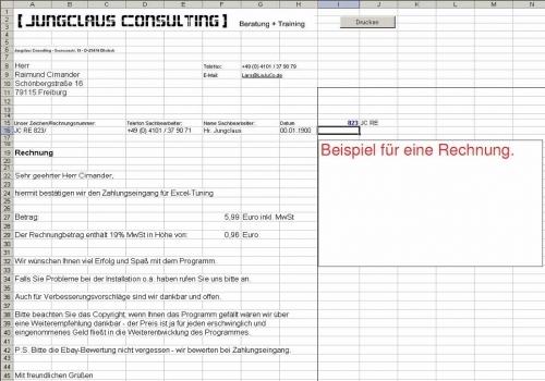 Auktionsabwicklung Software (Excel autom. Rechn.) Ebay etc.