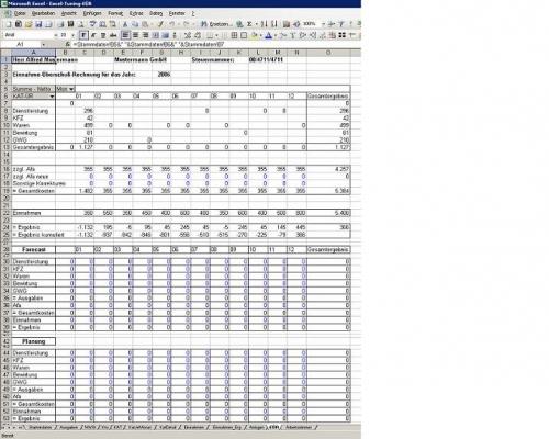 Einnahme- Überschussrechnung EÜR und Kassenbuch - Excel