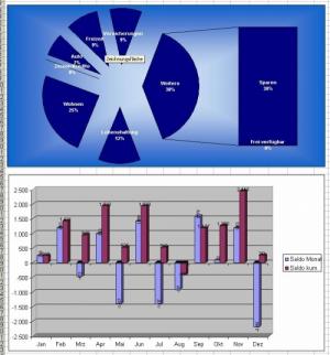 Haushaltsbuch/Haushaltsplaner - mehr Geld sparen (Excel)