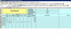 Fahrtenbuch / KFZ-Kostenermittlung mit MS Excel