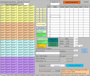 Gastrokasse Kassensystem für die Gastronomie - (Excel)