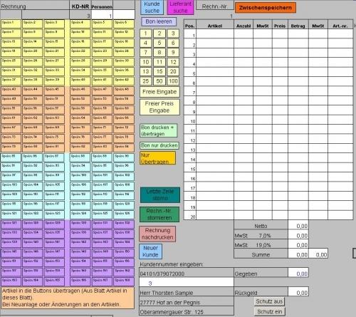 Second-Hand Kassensystem, Gebrauchtwarenhandel (Excel)