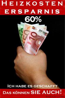 Heizkosten Ersparnis 60%