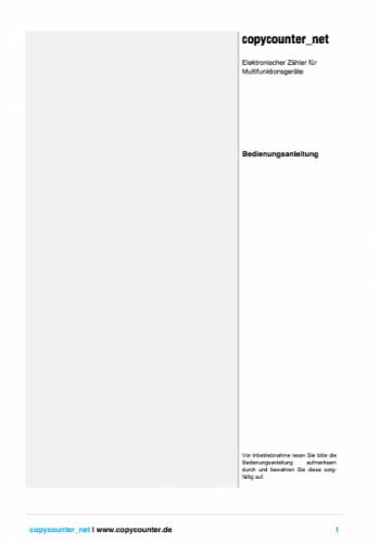Copycounter_net - Software zur Kopienerfassung im Copyshop