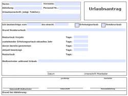 PDF Urlaubsantragsformular