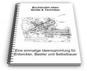 Buchbinden Geräte Bücher binden Technik Entwicklungen