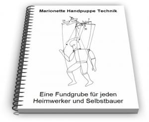 Marionette Handpuppe Marionetten Spielkreuz Technik