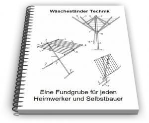 Wäscheständer Wäscheleine Wäschespinne Technik