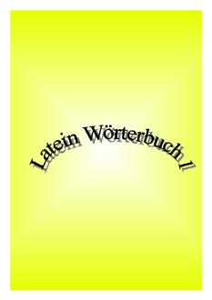 Latein Wörterbuch 1