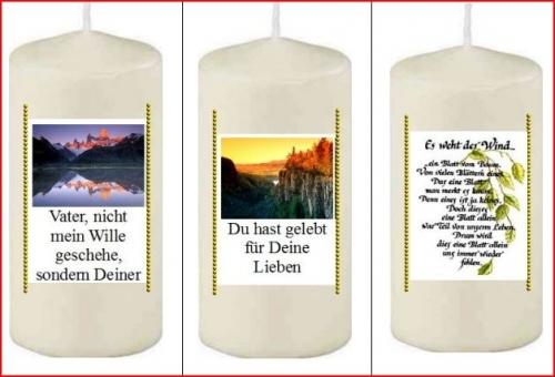 Geld verdienen mit Kerzen Anleitung Foliendruckkerzen