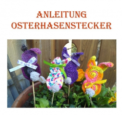 Osterhasen Blumenstecker