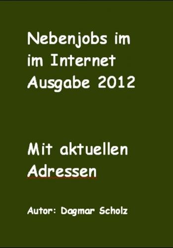 Nebenjobs im Internet Ausgabe 2012