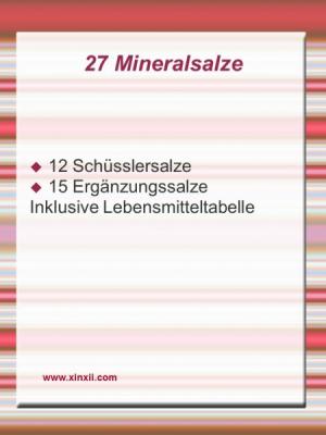27 Mineralsalze