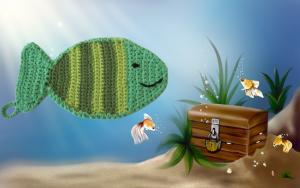 Häkelanleitung Topflappen Fisch