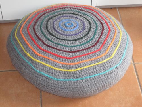 Häkelanleitung Sitzkissen/ Yogakissen 56 cm Durchmesser