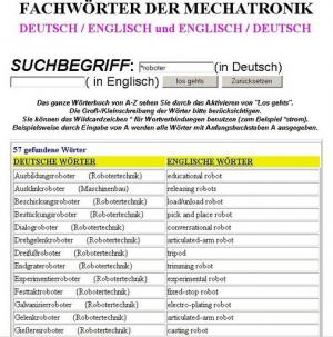 Leseprobe:  englisch Wörterbuch-Fachbegriffe Mechatroniker