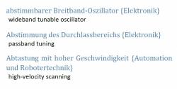 deutsch-englisch + en-de Uebersetzungen: Technische Saetze