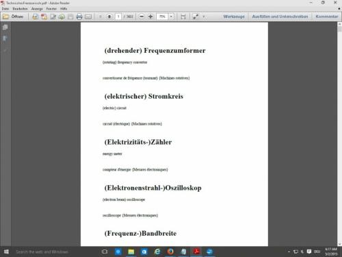 de-englisch-franzoesisch Woerterbuch Kfz / EDV/ Maschinenbau