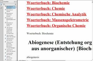 Chemie-Woerterbuch/ Wortschatz-Uebersetzer deutsch-englisch