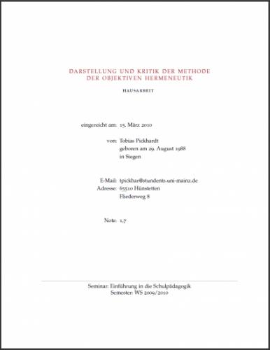 Darstellung und Kritik der Objektiven Hermeneutik