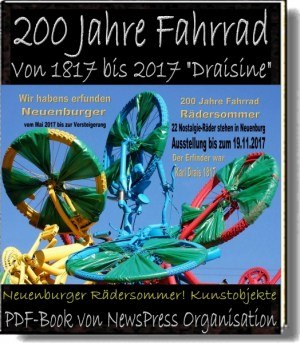 200 Jahre Fahrrad ' Draisine' Radkunst in Neuenburg