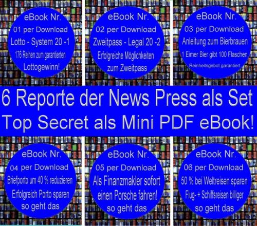 6 er SET Mini eBücher / Reporte Tipps und Tricks