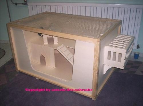 Bauplan Bauanleitung für Kleintierkäfig Mäusekäfig