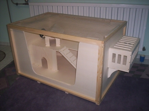Bauplan Bauanleitung für Kleintierkäfig Rattenkäfig