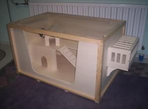 Bauplan Bauanleitung für Kleintierkäfig Frettchenkäfig
