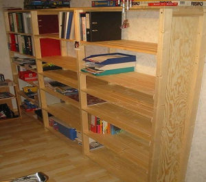 Bauplan Bauanleitung für Regalwand Bücherregal Lagerregal