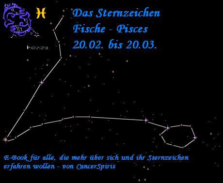Sternzeichen Fische - 20. Februar bis 20. März