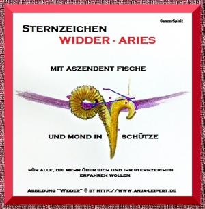 Sternzeichen Widder / AC Fische / Schütze-Mond