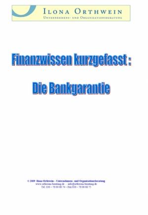 Finanzwissen kurzgefasst: Die Bankgarantie