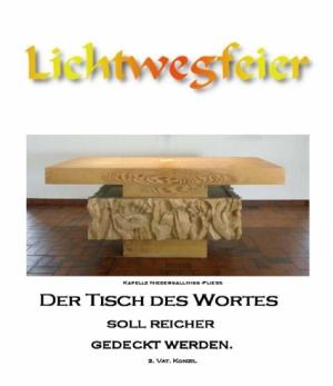 Lichtwegfeier mit Künstler Gitterle Engelbert