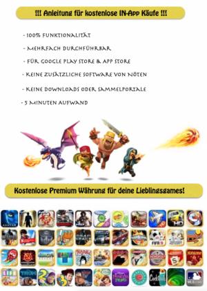 Kostenlose In-App Käufe für deine Games!