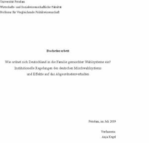 BA-Arbeit: Das Deutsche Mischwahlsystem
