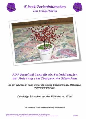 Bastelanleitung ebook Perlenbäumchen