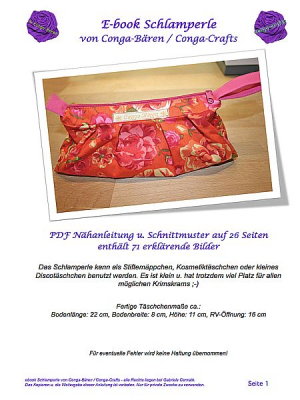 Nähanleitung e-book Schlamperle