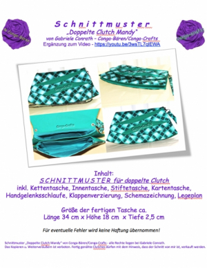 SCHNITTMUSTER 'Doppelte Clutch Mandy'