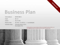 Businessplan Vorlage für Startups/Firmengründer
