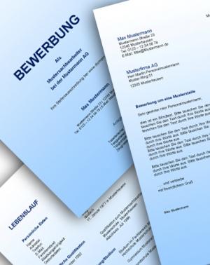 Komplette Bewerbungsunterlagen - Farbe: Blau