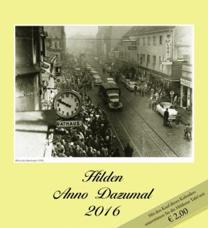 Kalender Hilden Anno Dazumal 2016